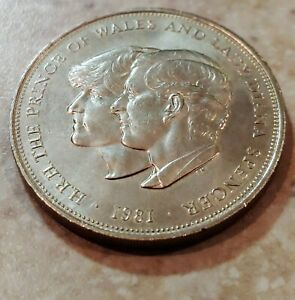 1981 PRINCE OF WALES AND LADY DIANA SPENCER COMMEMORATIVE COIN