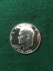 1976 S PROOF 40  SILVER EISENHOWER IKE DOLLAR DCAM BEAUTIFUL COIN