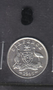AUSTRALIA: 1945  SIX PENCE  NICE  CONDITION     SCAN8