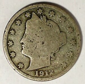 1912 D 5C LIBERTY HEAD NICKEL 18LSR0717 50 CENTS SHIPPING