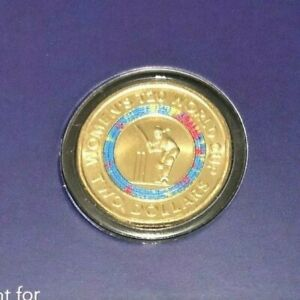 2020 ICC WOMEN'S T20 WORLD CUP $2 COLOURED UNCIRCULATED COIN ON CARD