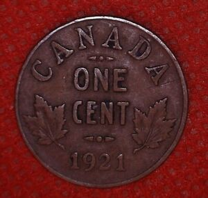 GEORGE V CANADA 1921 1 CENT COPPER COIN CANADIAN 517