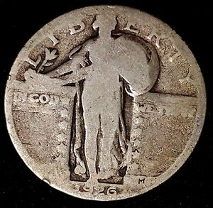 1926 P 25C STANDING LIBERTY QUARTER 90  SILVER M3117UAT 1 50 CENTS SHIPPING