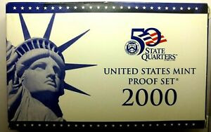 2000 S US PROOF MINT SET 10 COINS CLAD 19STH1025 $2 SHIPPING