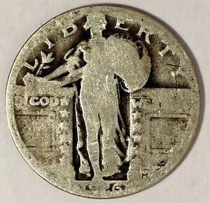 1926 P 25C STANDING LIBERTY QUARTER 90  SILVER 18SOH2102 50 CENTS SHIPPING