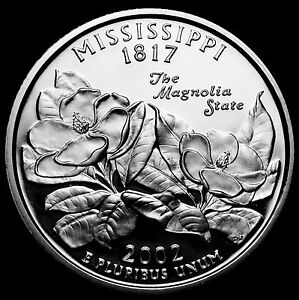 2002 S 25C STATE QUARTER MISSISSIPPI GDC PROOF CN CLAD 50 CENTS SHIPPING