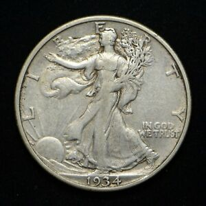 1934 S WALKING LIBERTY HALF DOLLAR XF  CN6936