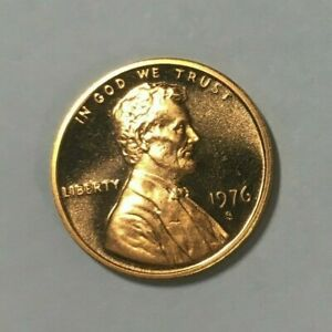 1976 S Lincoln Cent Deep Cameo Gem Proof