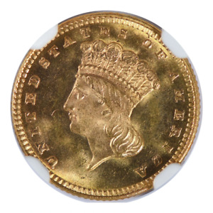 Click now to see the BUY IT NOW Price! 1877 $1 GOLD INDIAN PRINCESS PIECE TYPE 3 NGC MS67