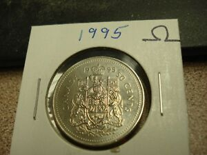 1995 CANADA 50 CENTS  Half Dollar COIN Uncirculated from roll