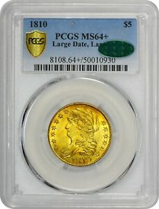 Click now to see the BUY IT NOW Price! POP 2 1810 $5 MS64  PCGS CAC LARGE CAPPED BUST CAC 1/0 FINEST EX ALLISON PARK