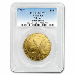 Click now to see the BUY IT NOW Price! 2020 BARBADOS 1 OZ GOLD CARIBBEAN PELICAN MS 70 PCGS  FS    SKU204678