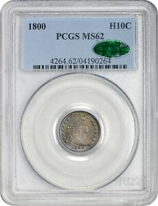 Click now to see the BUY IT NOW Price! 1800 H10C MS62 PCGS CAC POP 1 EX HA $23 000.00 08/11. DRAPED BUST HALF DIME