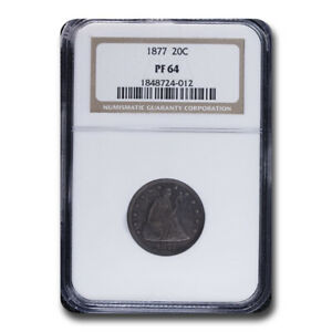 Click now to see the BUY IT NOW Price! 1877 TWENTY CENT PIECE PF 64 NGC   SKU210119