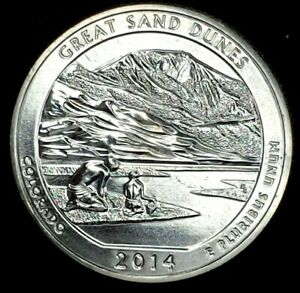 2014 S 25C ATB QUARTER GREAT SAND DUNES BU CLAD 20UO0327 1 50 CENTS SHIPPING