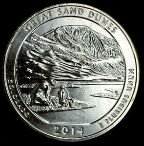 2014 S 25C ATB QUARTER GREAT SAND DUNES BU CLAD 20UO0327 2 50 CENTS SHIPPING