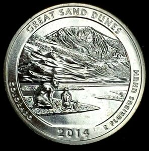 2014 S 25C ATB QUARTER GREAT SAND DUNES BU CLAD 20UO0327 3 50 CENTS SHIPPING