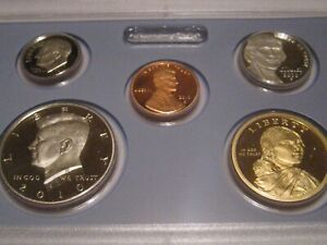 14 Coin Proof Set Complete and Original in BLUE  mint paper box 2010-s U.S