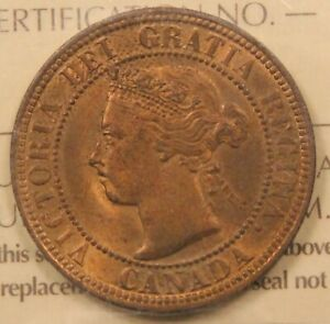 Click now to see the BUY IT NOW Price! 1898 H CANADA LARGE CENT MS 64 ICCS RED & BROWN. BV $810. GREAT OBVERSE