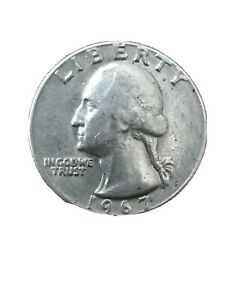 1967 US QUARTER DOLLAR  1  COINS. MINT P. US CURRENCY