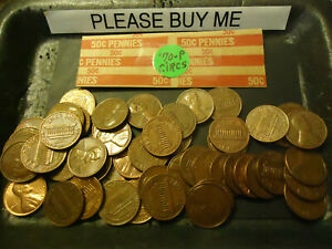 1970 P LINCOLN CENT CIRCS ROLL  > C/S & H AVAILABLE <