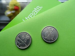ISLE OF MAN COINS    2 GOLF 5P COINS OF EUROPE 1994/95   1999   MANX GOLFING