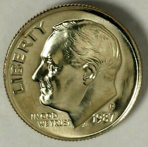 1987-D GEM BU ROOSEVELT DIME FREE SHIPPING ON ADDITIONAL COINS
