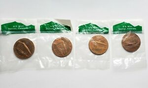 LOT OF 4 US MINT DENVER  ORIGINAL VINTAGE MINT MEDALLION IN ORIGINAL PACKAGE