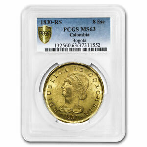 Click now to see the BUY IT NOW Price! 1830 RS COLOMBIA GOLD 8 ESCUDO MS 63 PCGS   SKU210867