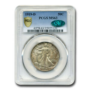 Click now to see the BUY IT NOW Price! 1919 D WALKING LIBERTY HALF DOLLAR MS 63 PCGS CAC   SKU211885