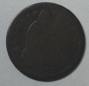 1841 SEATED HALF DIME UNCERTIFIED