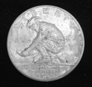 1925 S CALIFORNIA DIAMOND JUBILEE COMMEMORATIVE SILVER HALF DOLLAR 50C J