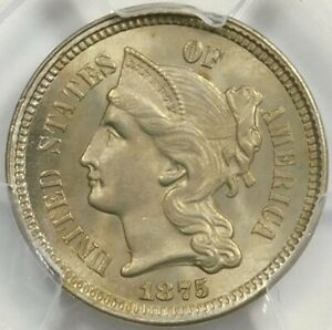 Click now to see the BUY IT NOW Price! PCGS MS65 1875 FS301 MPD 3 CENT NICKEL