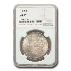 Click now to see the BUY IT NOW Price! 1882 MORGAN DOLLAR MS 67 NGC   SKU181334