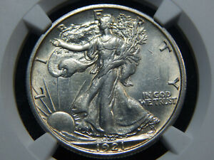Click now to see the BUY IT NOW Price! 1921 D 50C WALKING LIBERTY HALF DOLLAR AU 55 NGC KEY DATE  NICE
