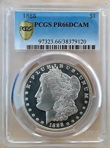 Click now to see the BUY IT NOW Price! 1888 $1 DCAM MORGAN DOLLAR PCGS PR 66DCAM.  SECOND FINEST KNOWN   POP 1/1^