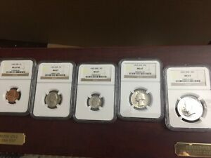 Click now to see the BUY IT NOW Price! SPECIAL MINT SET 5 COINS FROM EACH YEAR 1965 1966 1967. NGC MS67 15 COINS