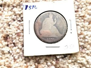 1876 SEATED LIBERTY SILVER HALF DOLLAR AG G CONDITION