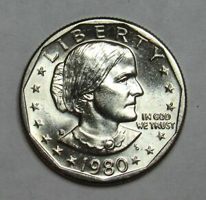 1980 D SUSAN B. ANTHONY DOLLAR IN BU CONDITION