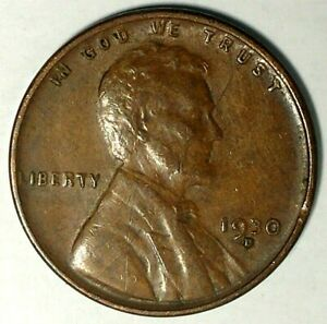 1930 D 1C LINCOLN WHEAT CENT AU19WH0127 50 CENTS SHIPPING