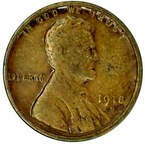 1918 D 1C LINCOLN WHEAT CENT 17RR0111 3 50 CENTS SHIPPING