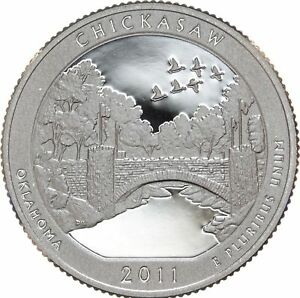 2011 S 25C ATB QUARTER CHICKASAW GDC PROOF CN CLAD 50 CENTS SHIPPING