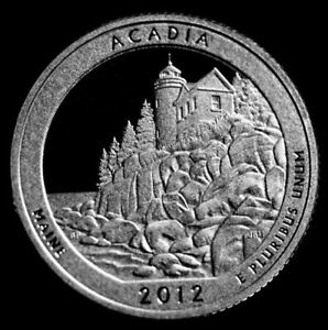 2012 S 25C ATB QUARTER ACADIA GDC PROOF CN CLAD 50 CENTS SHIPPING