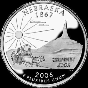 2006 S 25C STATE QUARTER NEBRASKA GDC PROOF CN CLAD 50 CENTS SHIPPING