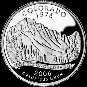 2006 S 25C STATE QUARTER COLORADO GDC PROOF CN CLAD 50 CENTS SHIPPING