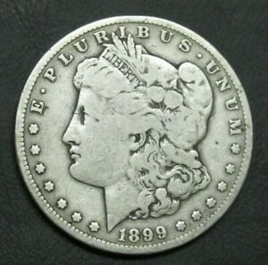 1899 S MORGAN SILVER DOLLAR R DATE STRONG VG TO F NICE