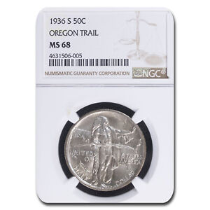 Click now to see the BUY IT NOW Price! 1936 S OREGON TRAIL COMMEMORATIVE HALF DOLLAR MS 68 NGC   SKU213416