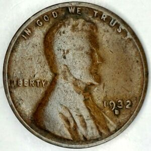 1932 D 1C LINCOLN WHEAT CENT 20OTT0124 50 CENTS SHIPPING
