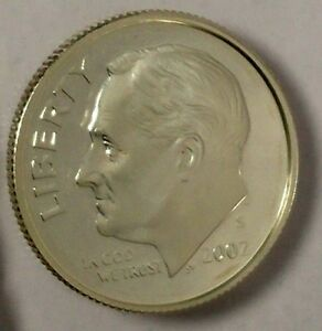 2002 S 10C ROOSEVELT DIME PROOF 90  SILVER OU 50 CENTS SHIPPING