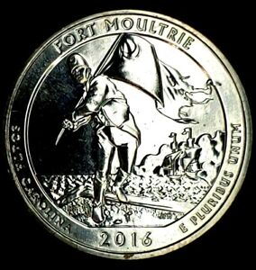 2016 S 25C ATB QUARTER FT MOULTRIE BU CLAD 20UO0327 1 50 CENTS SHIPPING